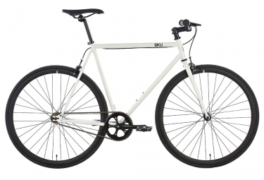 6KU Evian 2 Fixie Bike White Black