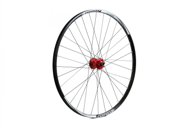 roue avant hope tech xc pro 4 29 rouge 6 trous 15 x 100 mm