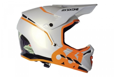Casque integral 661 sixsixone reset orange blanc l 60 61 cm