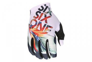 Gants longs 661 sixsixone raji tropic blanc s