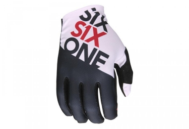 661 SixSixOne Raji Long Gloves negro blanco