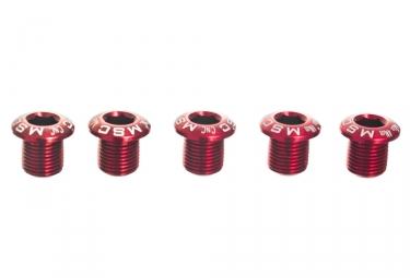 Kit de vis cheminees pour plateaux msc m8x8 8 5 alu rouge