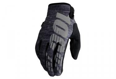 Paire de gants hiver 100 brisker gris xl