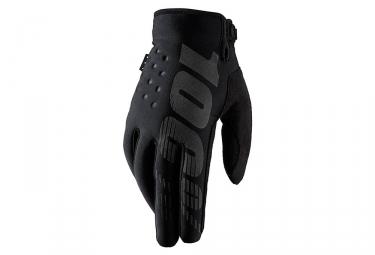 paire de gants hiver 100 brisker noir s