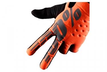Paire de Gants Hiver 100% Brisker Orange Fluo