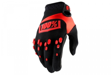 Paire de gants enfant 100 airmatic noir rouge kid s