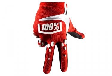 Paire de Gants 100% AIRMATIC Rouge/Blanc