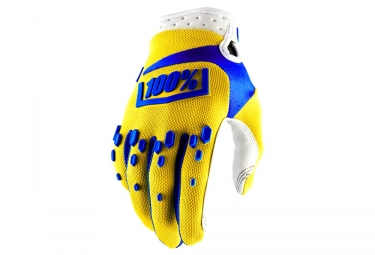 100% Airmatic Youth Gloves - Yellow/Blue