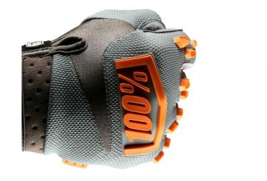 Paire de Gants 100% AIRMATIC Gris/Orange