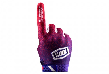 Paire de Gants Longs 100% Ridefit Rose Violet