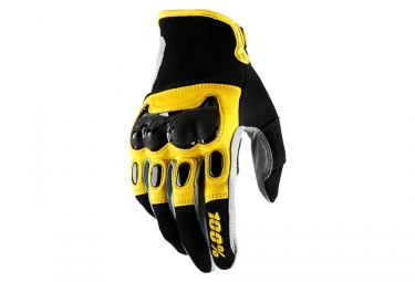 paire de gants longs 100 derestricted noir jaune s