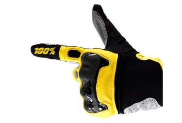 Paire de Gants Longs 100% Derestricted Noir Jaune
