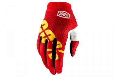 Paire de gants 100 itrack rouge xl