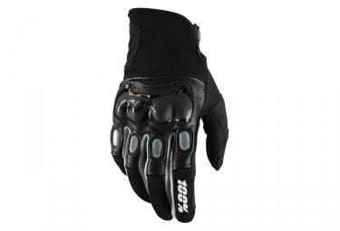 100% Derestricted Long Gloves Black Grey