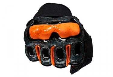 Paire de Gants Longs 100% Derestricted Noir Orange