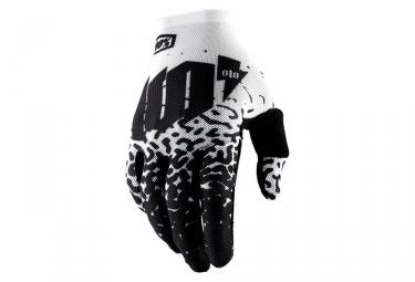 Paire de gants longs 100 celium 2 blanc noir m