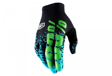 Paire de gants longs 100 celium 2 noir bleu m