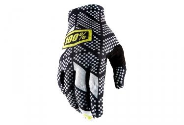 Paire de gants longs 100 celium 2 noir blanc l