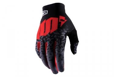 100% Celium 2 Long Gloves Metal Grey Black