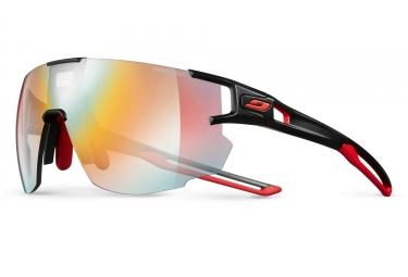 paire de lunettes julbo aerospeed zebra noir rouge multicouleur