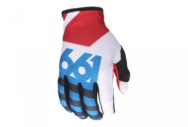 Gants Longs 661 SixSixOne Comp Lines Rouge Blanc