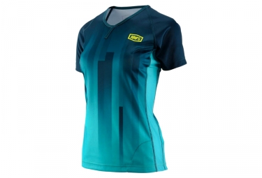 Maillot manches courtes femme 100 airmatic vert s