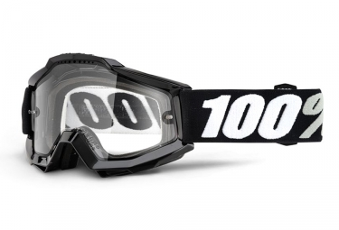 Masque 100 accuri enduro mtb noir ecran transparent double ventile adulte