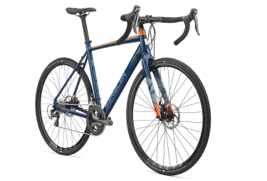 gravel bike saracen 2018 hack 02 shimano tiagra 10v bleu orange 52 cm 152 168 cm