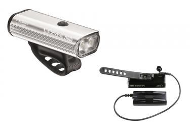 Lampe avant lezyne deca drive 1100 avec batterie argent