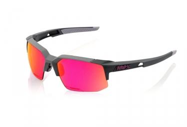 lunettes 100 speedcoupe sl soft tact graphite violet miroir