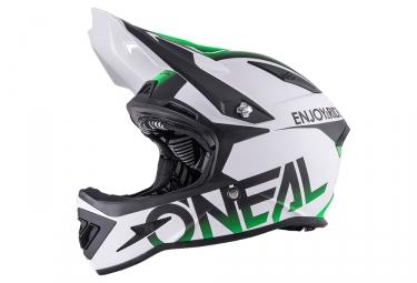 casque integral oneal warp blocker fidlock blanc vert fluo xl 61 62 cm