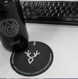 Planche de Stickers LeBram Noir