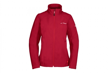 Veste softshell femme vaude cyclone iv rouge s