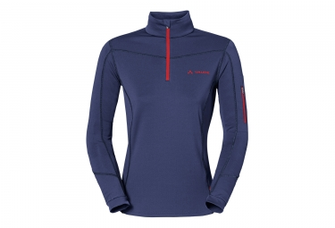 Vaude Boe Halfzip Woman Fleece Blue Red