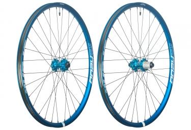 Paire de roues spank oozy trail 295 27 5 axe 15x100 12x142mm shimano sram bleu