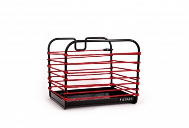 panier velo fil safe i retro reflechissant rouge