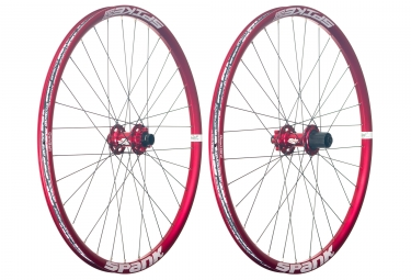 paire de roues spank 26 spike race 28 axe 20x110mm 12x150mm corps shimano sram rouge