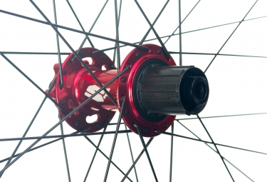 Paire de Roues Spank 26'' SPIKE Race 28 | Axe 20x110mm - 12x150mm | Corps Shimano/Sram Rouge