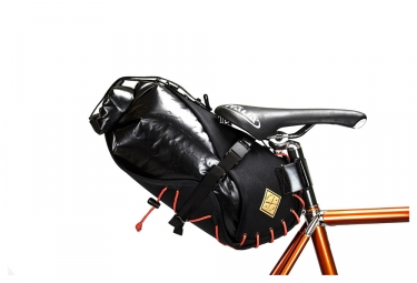 Restrap Carry Saddle Bag & Dry Saddle Bag Black Orange