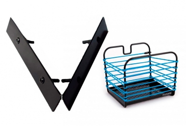Fil Safe I-Classique Basket blue with Basket Mount Front/Rear