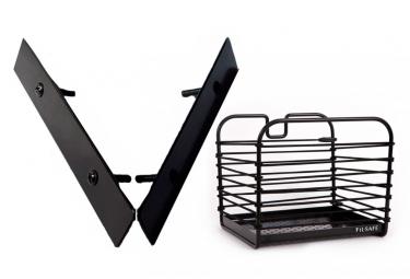 Fil Safe I-Classique Basket Black with Basket Mount Front/Rear