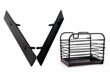 Fil Safe I Réflective Elastic Basket Black with Basket Mount Front/Rear
