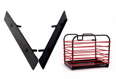 Fil Safe I Réflective Elastic Basket Red with Basket Mount Front/Rear
