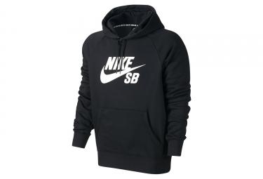 Nike SB Icon Hoodie Black White