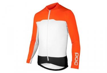 Maillot Manches Longues POC AVIP Orange Blanc