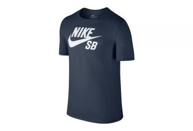 T-Shirt Nike SB Logo Bleu Blanc