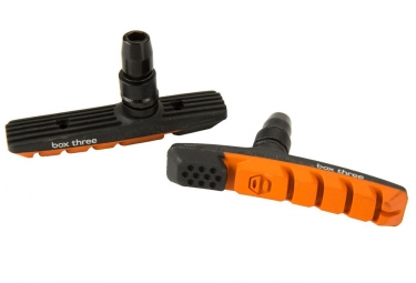 x2 Patins de Freins Box Three Air Flow 70mm Orange