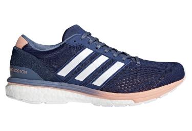 Adidas running adizero boston femme bleu blanc orange 40