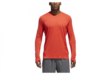 Maillot Manches Longues adidas running Supernova Rouge