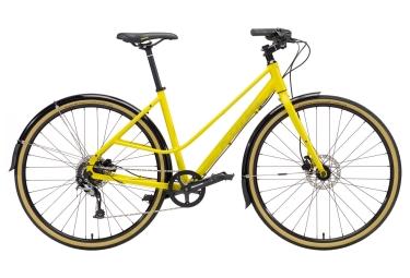 velo de ville kona coco jaune 2018 m 157 178 cm
